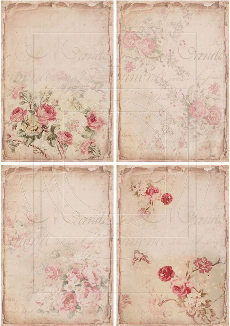 Instant Download Digital Collage Sheet Shabby Chic Gift By
