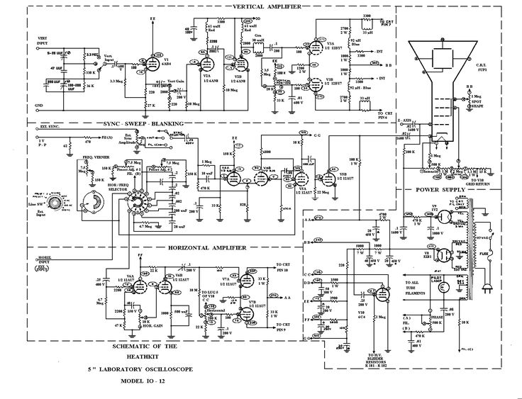 Minimalist Oscilloscope Circuit Diagram