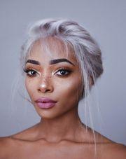 natural white hair ideas