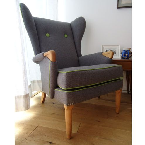 retro parker knoll wingchair  wing chairs  ohrensessel