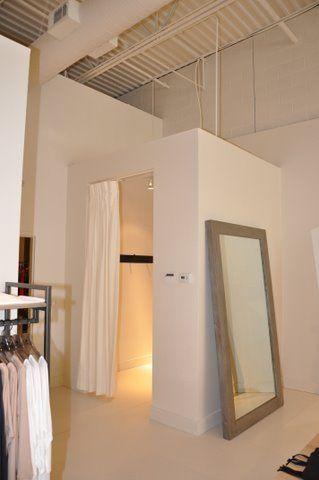 Large wood frame mirror Retail fitting rooms Atlanta GA