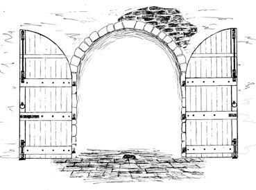 drawings of fantasy doors  Google Search  Through open DoorsEntrywaysArtill  Pinterest