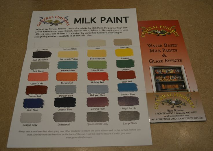 General Finishes Water Based Milk Paints Color Chart