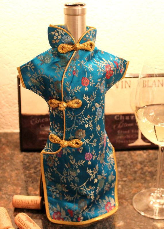 Chinese Dress Wine Bottles Cover  Bottle Dresses and