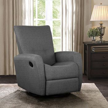 reclining wingback chair wooden mat cashmere charcoal swivel glider recliner $700 costco.ca one poor review gray out of stock ...