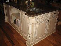 cream, distressed kitchen cabinets | Kitchen Renovation ...