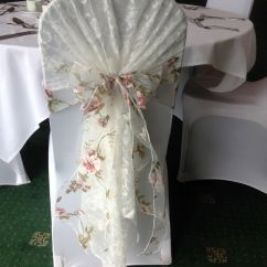 Tiffany Wedding Chairs Revolving Chair For Doctor Beautiful Vintage Lace Hood With Floral Organza Sash. Available To Hire From Make It ...