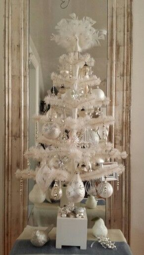 My decorated goosefeather tree from Martha Stewart  Christmas 2013  Tabletop Trees