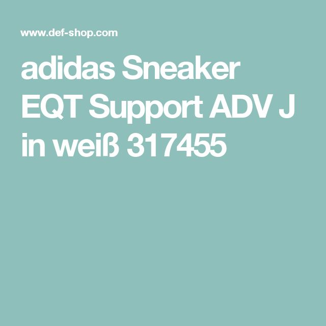 adidas sneaker eqt support adv j in wei