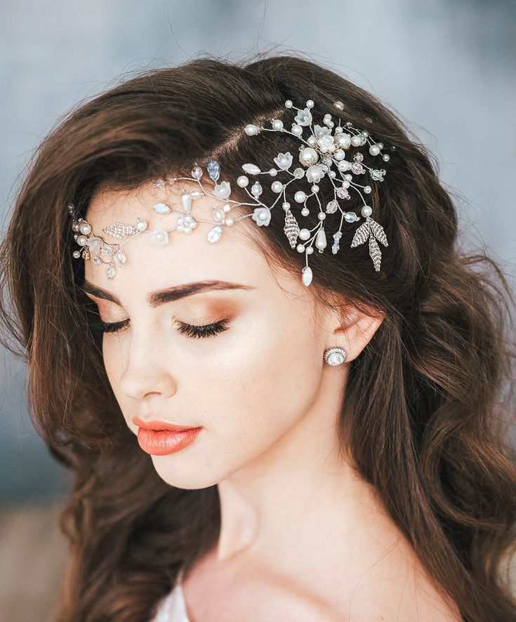 17 Best ideas about Wedding Tiara Hair on Pinterest