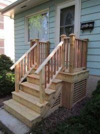 Cedar Steps for Front Door | Front porch ideas | Pinterest ...