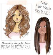 ideas hair sketch