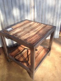 End table with built in plug w/ USB ports. | Welding ...