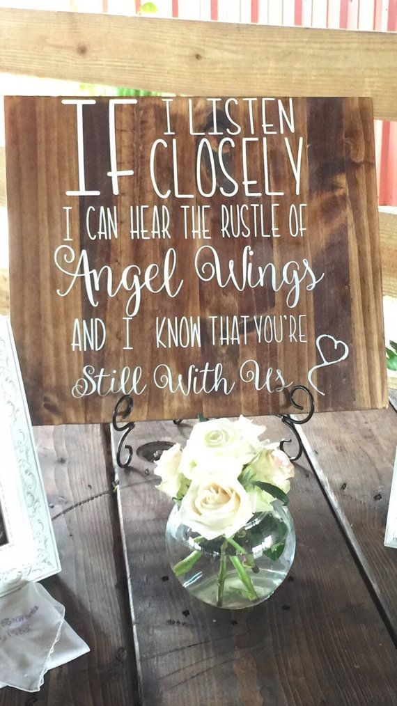 Wooden Wedding Memory Table Sign  Receptions Wedding and