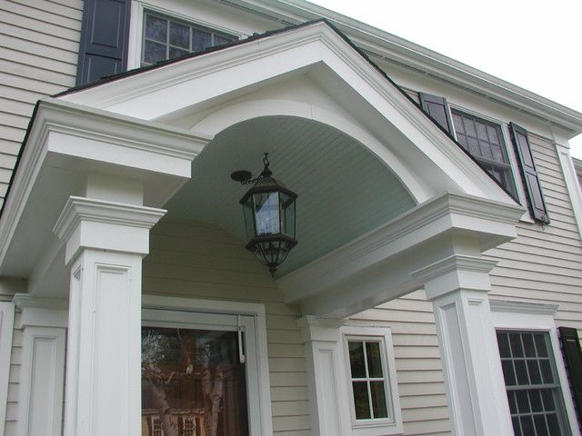 The Churchill Company traditional exterior  front door overhang ideas  Pinterest  Front porch