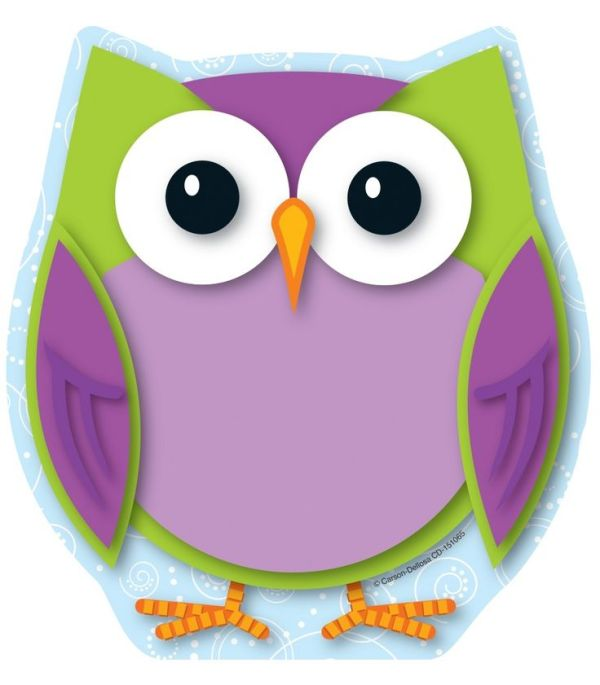colorful owls design