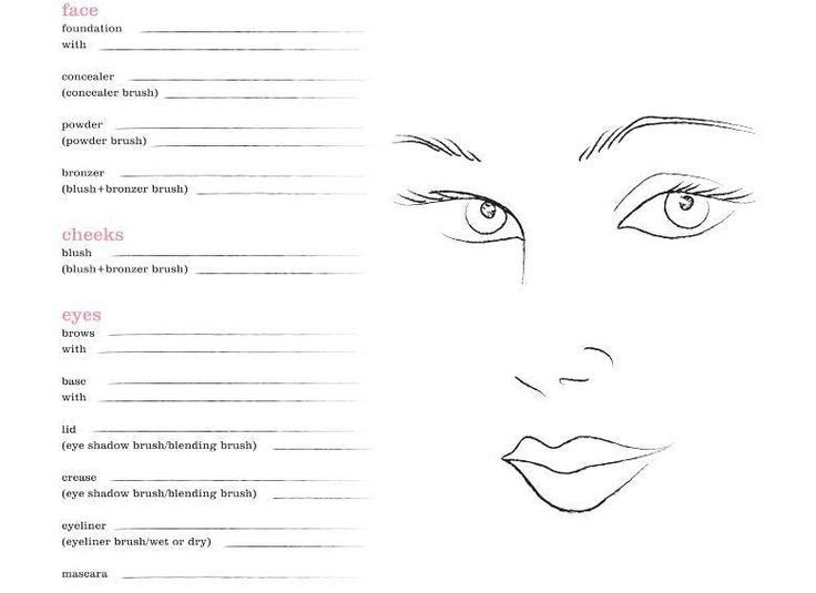 15 best images about Makeup face charts on Pinterest