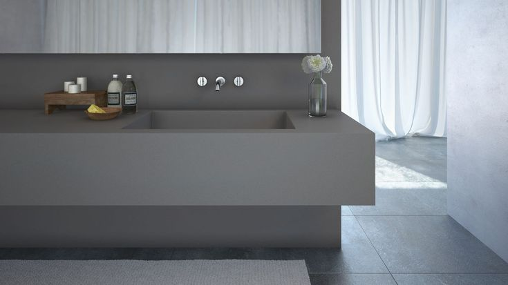 The New Sleek Concrete 4003 model by Caesarstone httpwwwcaesarstonecomaucolour4003