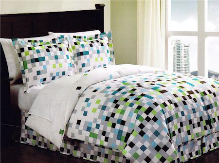 Minecraft Pixels Comforter Set Teen Bedding Bed in a Bag