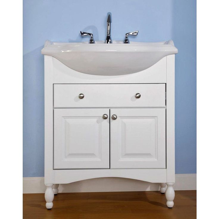17 Best ideas about Narrow Bathroom Vanities on Pinterest