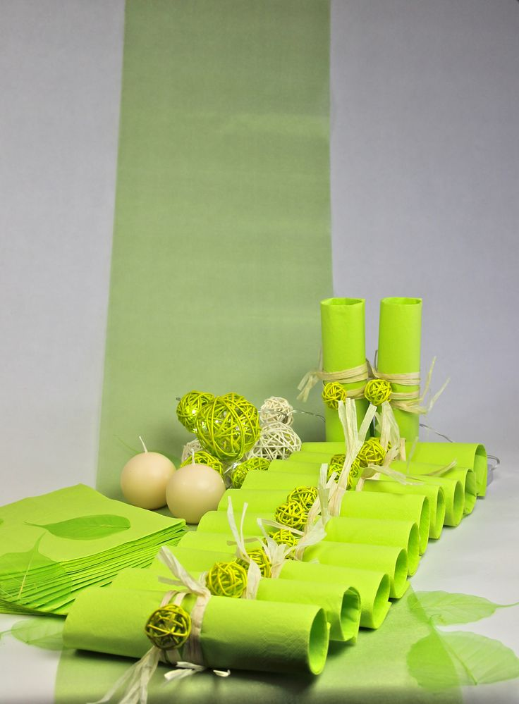 Deco Table Vert Et Blanc HomeEzy