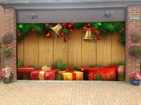 Merry Christmas Garage Door Covers 3d Banners Holiday Tree ...