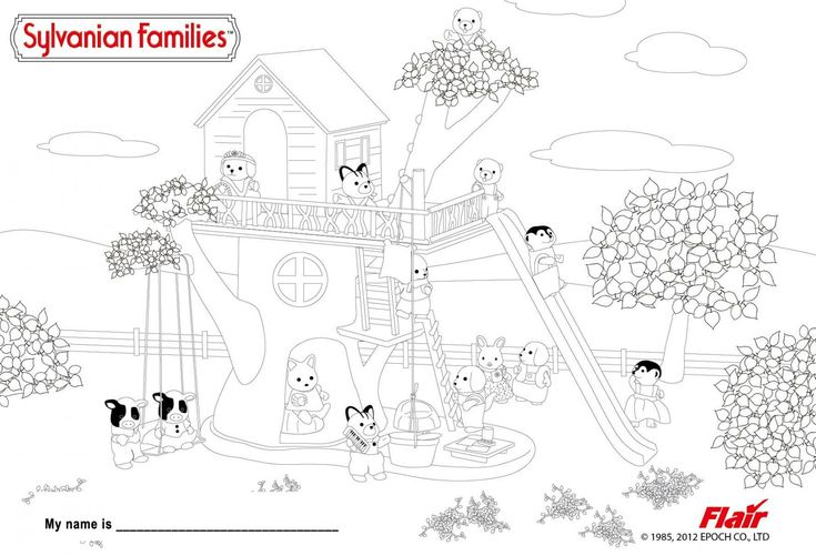 17 Best images about Crafty (Sylvanian Families) Coloring