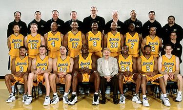 sports bean bag chairs chair with backrest los angeles lakers 2001-2002 roster | nba legendary teams pinterest angeles, and ...