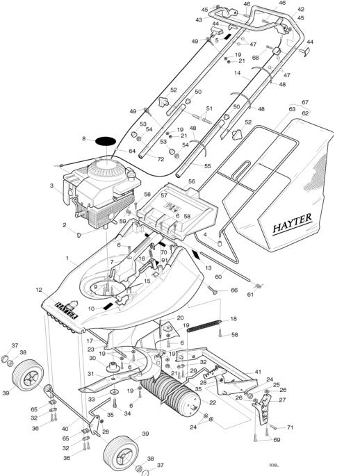 1000+ images about Hayter Harrier 41 Spares Parts Diagrams