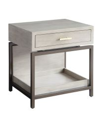 GREY SMALL NIGHTSTAND with DRAWER
