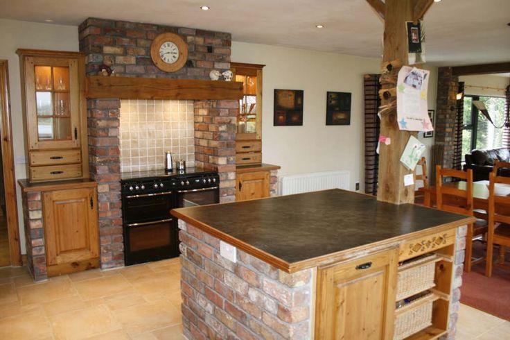 brick island and range surround  Plough Barn kitchen