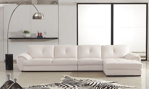 phantom contemporary grey leather sectional sofa w ottoman jackson lawson double chaise 17 best ideas about white sectionals on pinterest ...