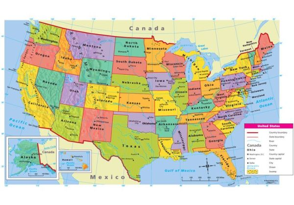 map of the united states Google Search School