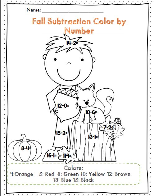 First Grade Fall Math and ELA Activity Set *50 pages