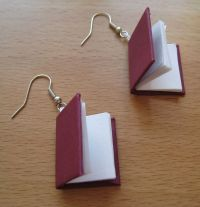How to Make Book Earrings | Earrings, How To Make and Book