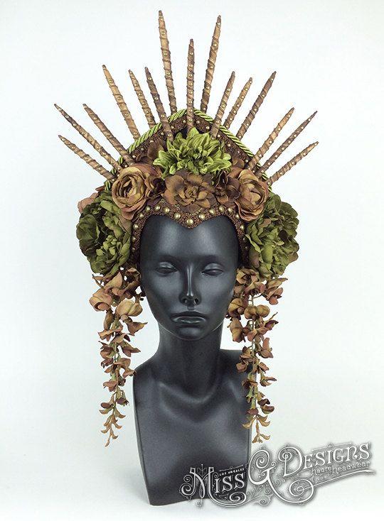 Flower Headdress with Spike Crown  Flower headdress and Headdress