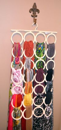 25+ best ideas about Scarf hanger on Pinterest | Storing ...