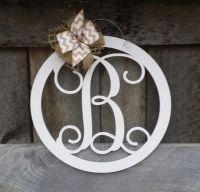 1000+ ideas about Initial Door Wreaths on Pinterest ...