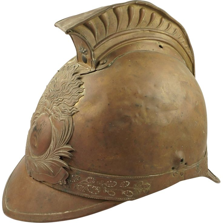 19th Century French Pompiers Firemans Helmet From Trinity
