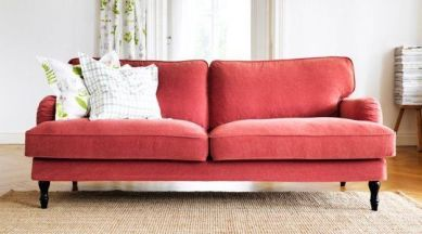 Ikea stocksund sofa in red