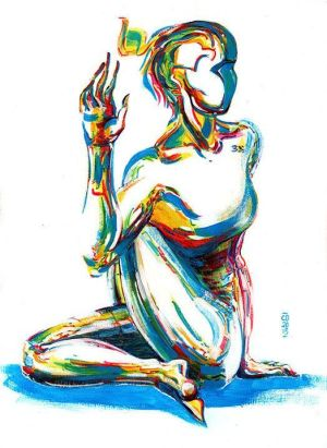 yoga painting namaste meditation pose drawing acrylic drawings lord 31st january watercolor sketch fitness fishes pencil monday navigation discover sold