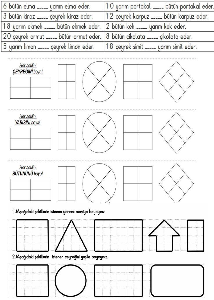 2. Sınıf Matematik Etkinlik ve Çalışma Kağıtları
