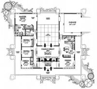 u shaped house plans with pool - Bing Images | Plan de ...