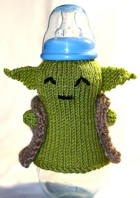 Yoda bottle cozy ~ AHHHH Ho