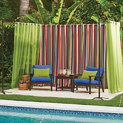 Outdoor Curtain Rod With Post Set Curtain Rods The