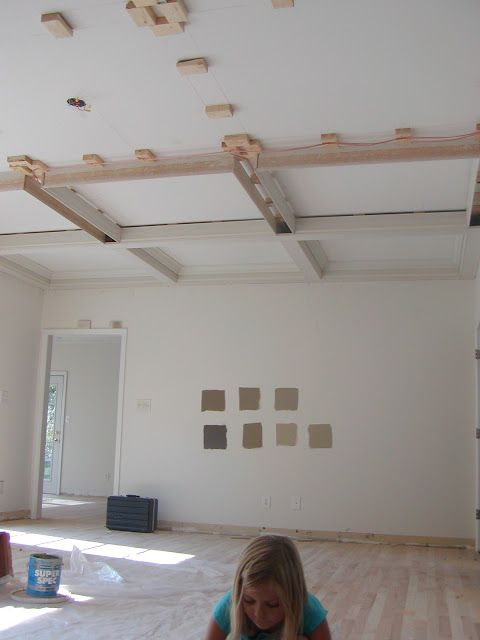 DIY How to Build a Faux CofferedCeiling  this post shows