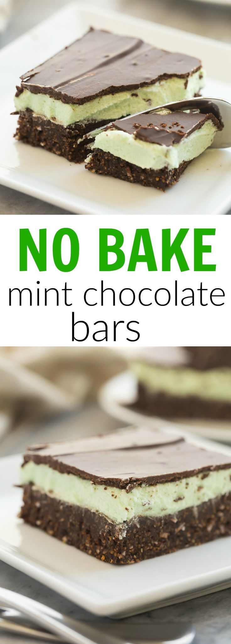 No Bake Mint Chocolate Bars Recipe Mint Frosting