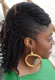 twists braids with roll hairstyle