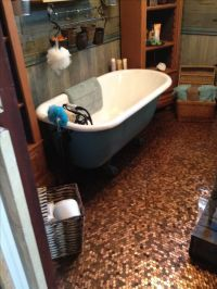 Vintage bathroom with penny floor done with my own hands ...