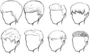 male hair sketches fashion sketch